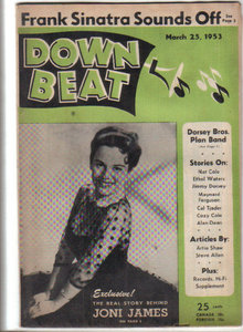 Down Beat Magazine 3/25/53 JONI JAMES, Les Thompson