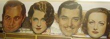 Vintage 1930's SCARCE Big Posters of Clark Gabel, Joan Crawford, Norma Shearer, Robert Montgomery