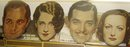 Vintage 1930's SCARCE Big Posters of Clark Gabel, Joan Crawford, Norma Shearer, Robert Montgomery