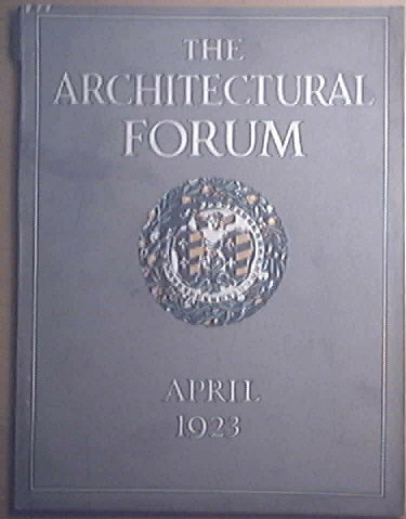 The Architectural Forum 4/1923 Daily News Sanitarium, F. Nelson Breed, Foundations of New York Court House