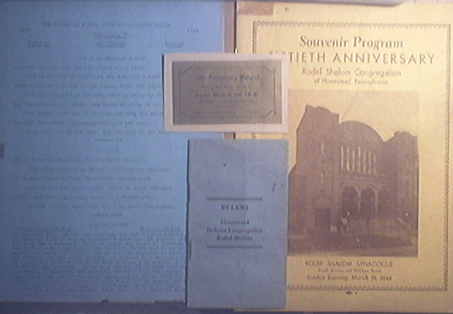 Rodef Shalom March 19,1944 50th Anniversary Lot