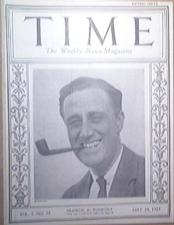 Time Magazine May 28,1923 13th ISSUE Franklin D. Roosevelt cover