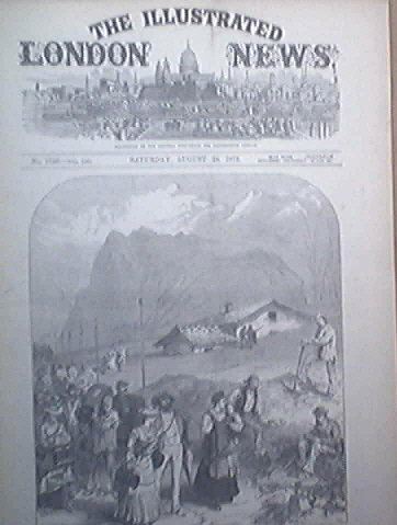 London Illustrated  News 8/1872 Gatling Gun, Dr. Livingston, Riots At Belfast