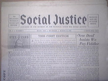 ocial Justice, Father Coughlin FIRST 10 ISSUES 1936