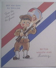RARE WWII Pin-up Model Greeting Card ...NOT USED