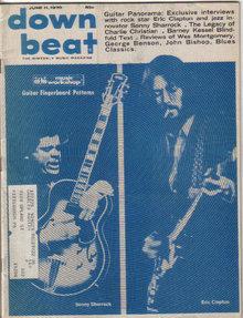 Down Beat Magazine 6/11/70 Sonny Sharrock, Eric Clapton, Charlie Christian