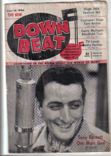 Down Beat Magazine 6/16/1954 BETTY HUTTON, Tony Bennett, Bud Powell, Tony Arden