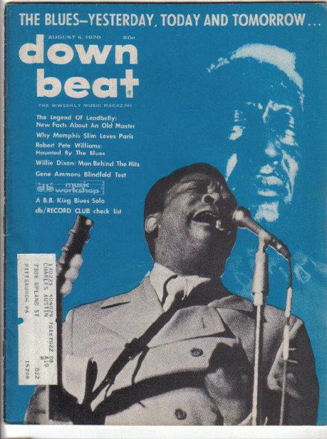 Down Beat Magazine 8/6/1970 Dizzy Gillespie, B.B. King, Ross Russell, Memphis Slim