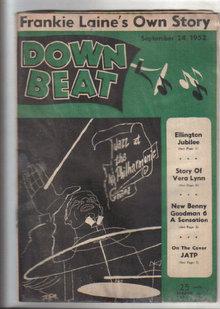 Down Beat Magazine 9/24/1952 Duke Ellington Jubilee, Frankie Laine's, Vera Lynn, Dextrous David Saperton
