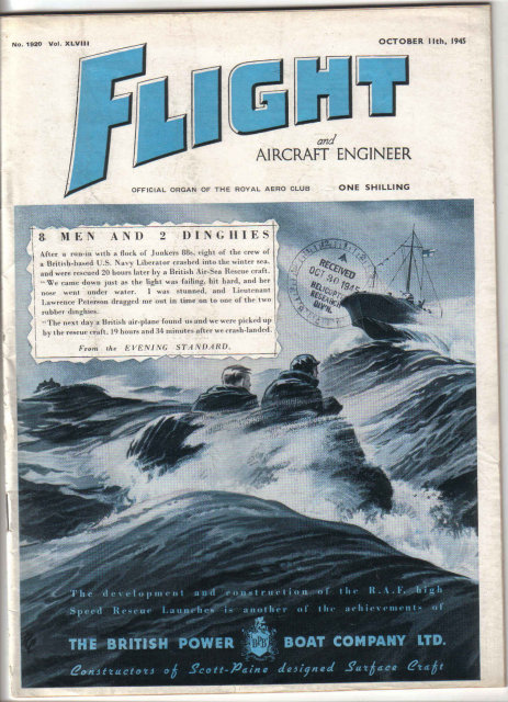 FLIGHT UK Magazine 10/11/45 Fairey Torpedo Dive-bomber, Sea Hornet, de Havilland Dove, Airplanes, Aviation