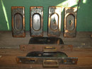 Delicate Victorian Pocket Door Hardware – Complete Set