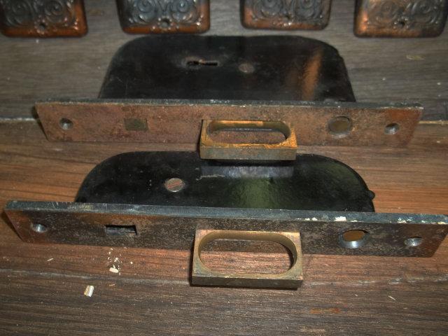 Delicate Victorian Pocket Door Hardware – Complete Set
