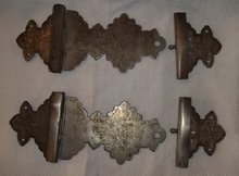 Two Old Pairs of Nickle Album or Bible Hinges
