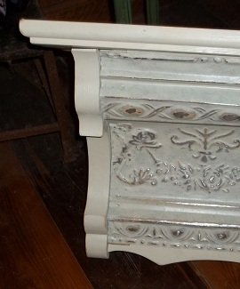 Vintage Tin Crown Shelf Mantel