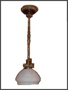 Hanging Light with embossed shade