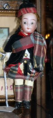 Antique William Goebel All Original Scottish Dollhouse Doll