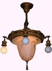 Ornate Hanging Light Fixture