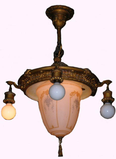 Ornate Hanging Light Fixture