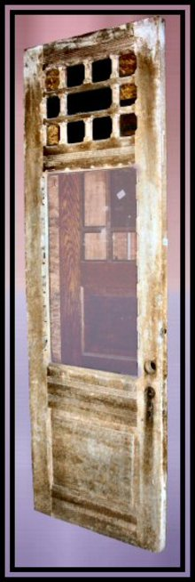 Poplar Queen Anne Victorian Door