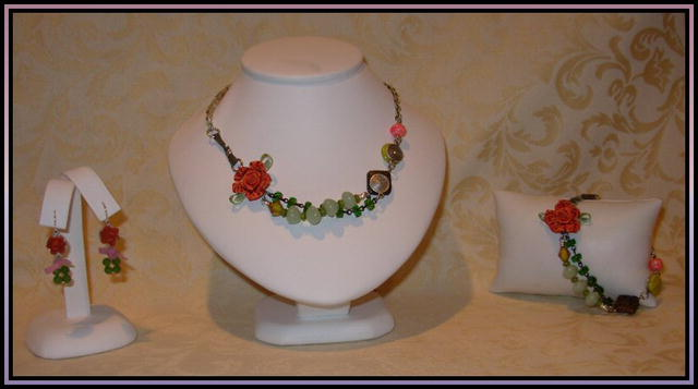 Coral & Quartz Necklace