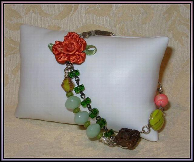 Coral & Quartz Bracelet