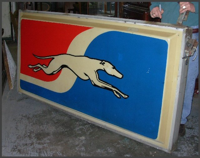 Vintage Greyhound Sign, Double Sided