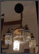 Crystal & Brass Hanging Light Fixture