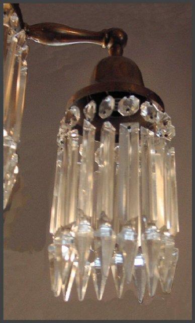 Crystal & Brass Hanging Light Fixture