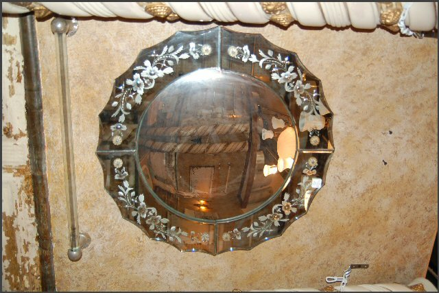 Beautiful Convex Mirror with Decorative Mirror Frame