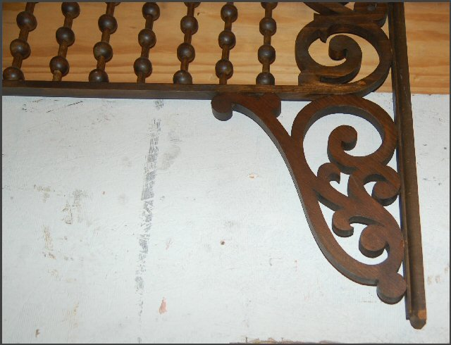 Oak Fretwork with scrollwork, balls and spindles