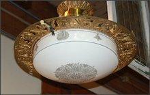 Art Deco Pendant Light , Round