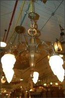 Five Light Chandelier w/ Torch Globes