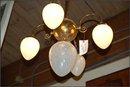Victorian Chandelier , Opalescent Globes
