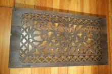 Wood Scrollworked vent cover