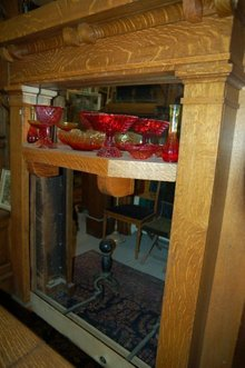 Oak Mantel w/o mirror