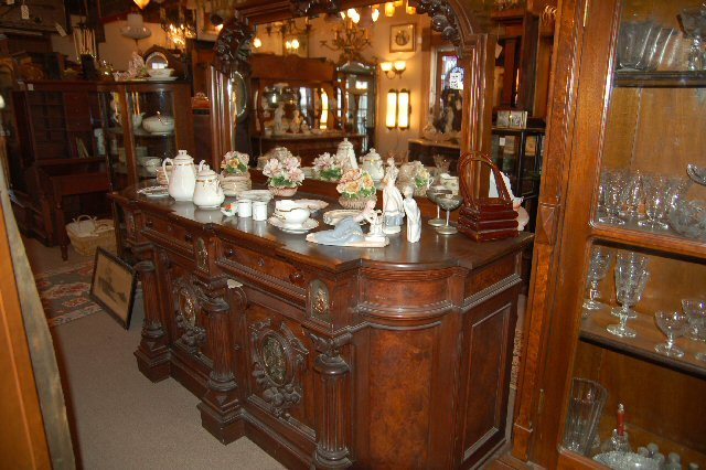 Ornate Walnut Buffet