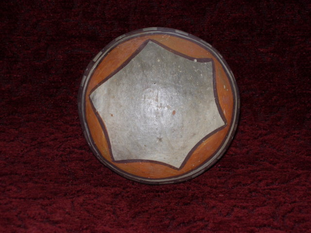 Antique American Indian Clay Basket