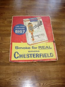 Vintage Chesterfield Cigarette Advestisement