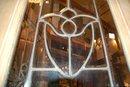 Wood entry door w/ beveled glass