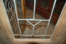 Wood entry door w/ beveled glass