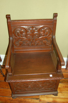Walnut Chairs with Chamber Pot Storage
