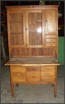 Oak Hoosier Type Cabinet