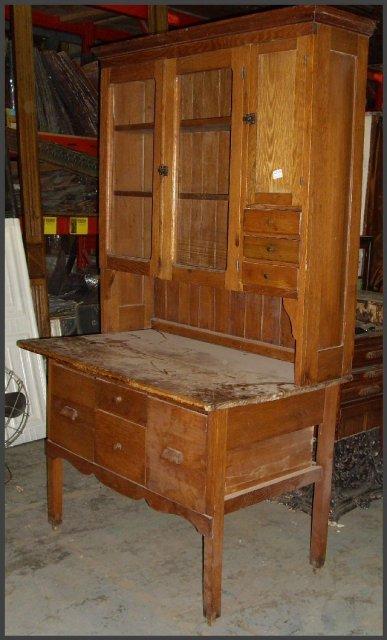 Oak Hoosier Type Cabinet