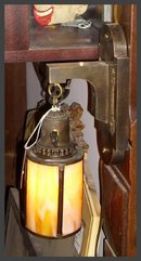 Brass Sconce w/ Slag Glass Shade