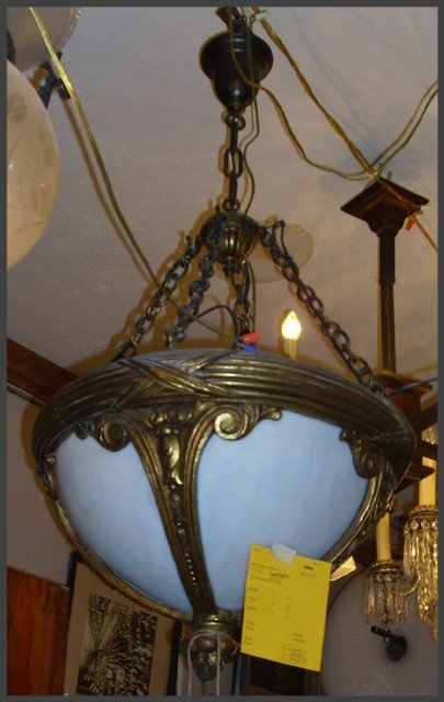 Heavy Bronze Chandelier