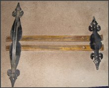 Nice Pair of Brass & Iron Door Handles