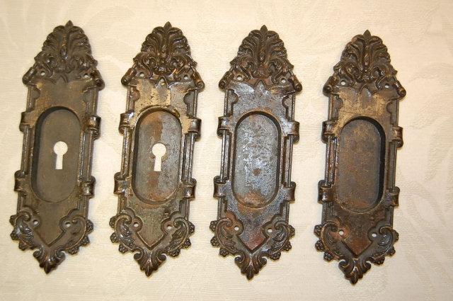 Iron Pocket Door Escutcheons