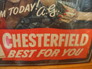 Chesterfield Cigarette Advertising  Sign with Arthur Godfrey