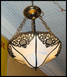 Vintage Hanging Light Fixture