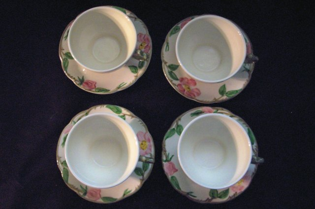 Franciscan Desert Rose Teacups & Saucers